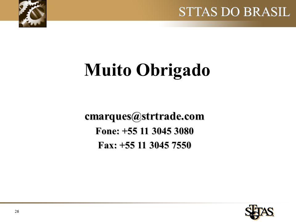 Muito Obrigado STTAS DO BRASIL cmarques@strtrade.com