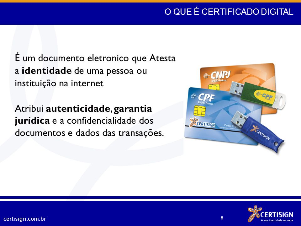 O QUE É CERTIFICADO DIGITAL
