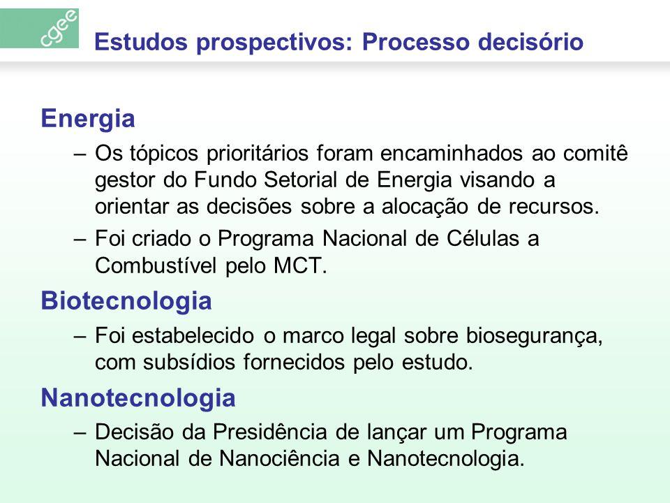 Estudos prospectivos: Processo decisório