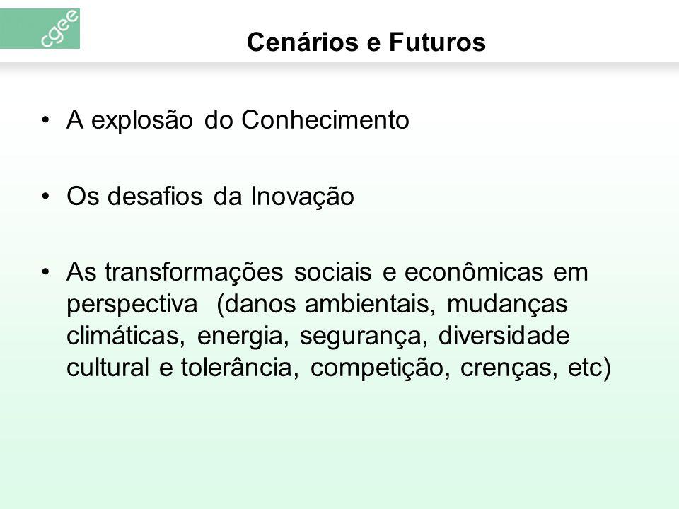 Cenários e Futuros A explosão do Conhecimento. Os desafios da Inovação.