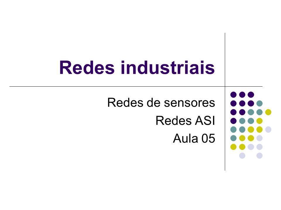 Redes de sensores Redes ASI Aula 05