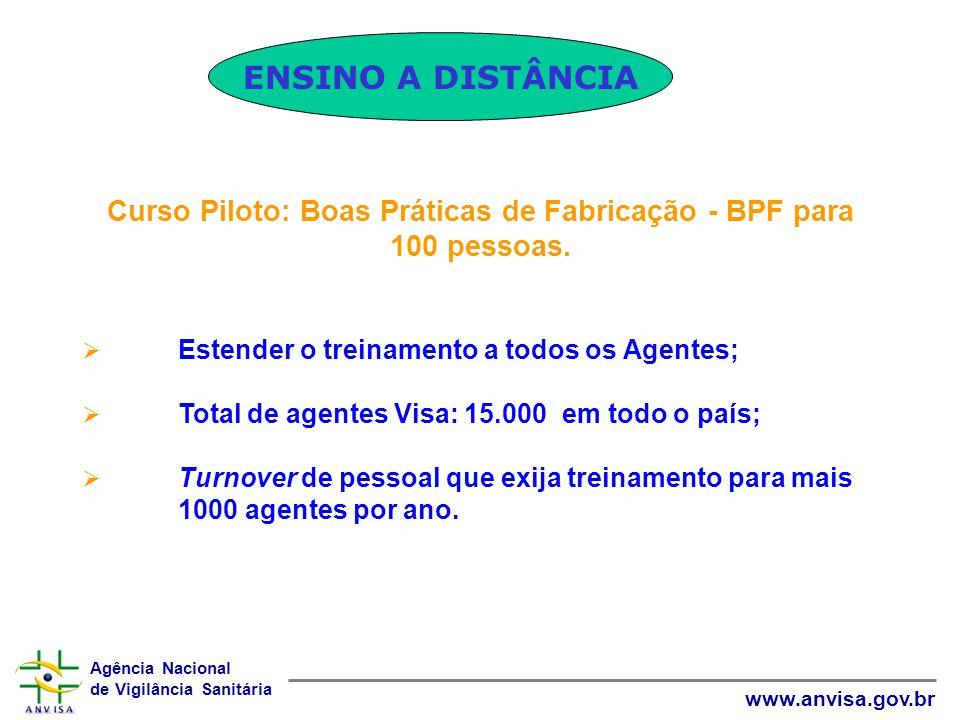 Curso Piloto: Boas Práticas de Fabricação - BPF para 100 pessoas.