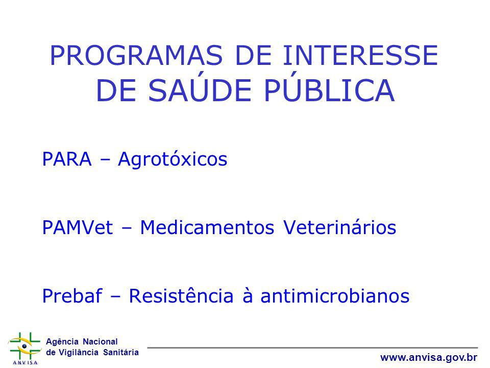 PROGRAMAS DE INTERESSE DE SAÚDE PÚBLICA