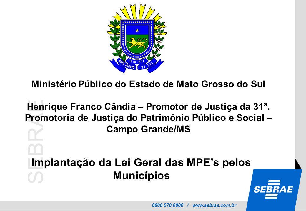 Implantação da Lei Geral das MPE's pelos Municípios