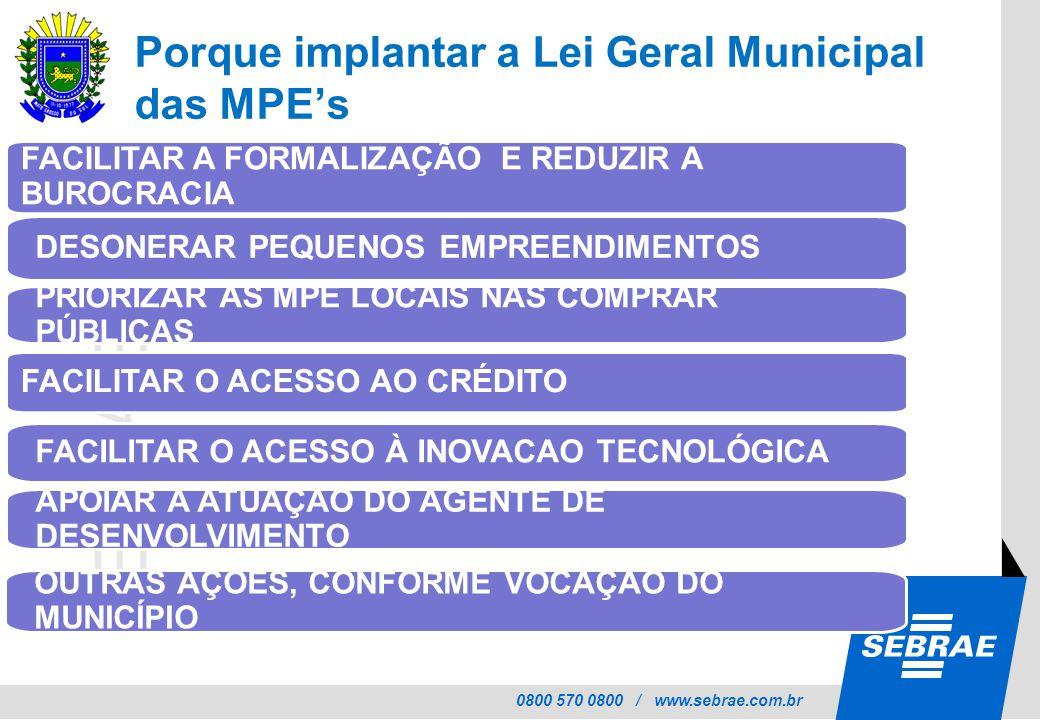 Porque implantar a Lei Geral Municipal das MPE's
