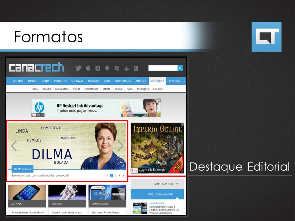 Formatos Destaque Editorial