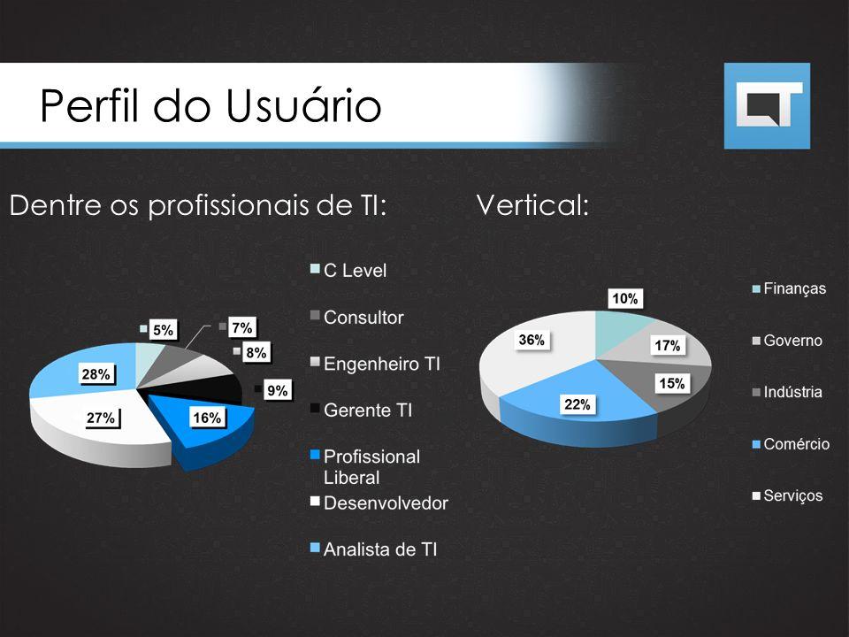 Perfil do Usuário Dentre os profissionais de TI: Vertical:
