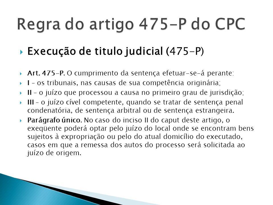 Regra do artigo 475-P do CPC
