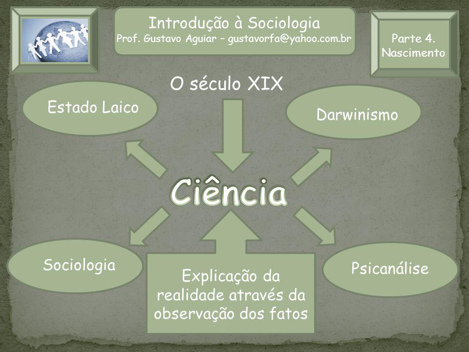 Ciência O século XIX Introdução à Sociologia Introdução à Sociologia