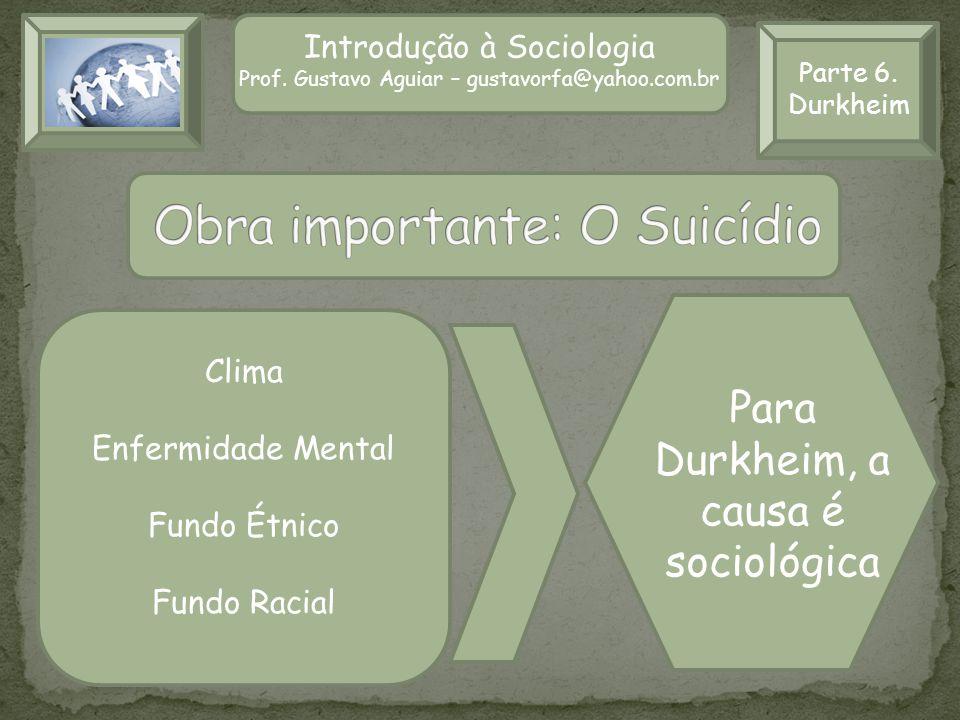 Obra importante: O Suicídio