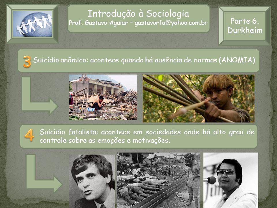 3 4 Introdução à Sociologia Parte 6. Durkheim