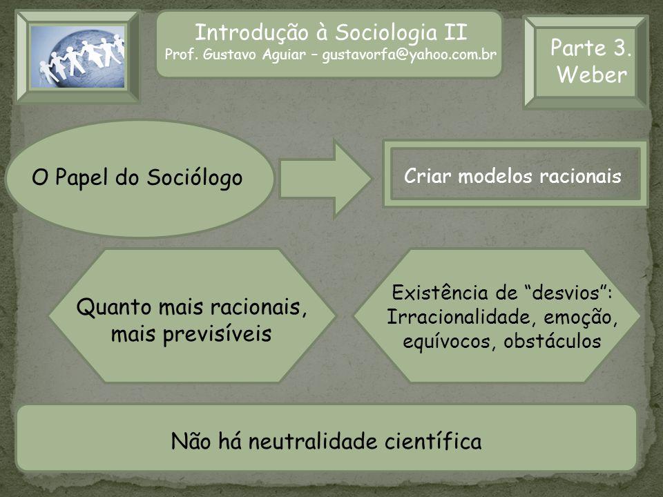Introdução à Sociologia II Parte 3. Weber