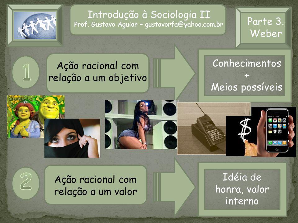 1 2 Introdução à Sociologia II Parte 3. Weber Conhecimentos