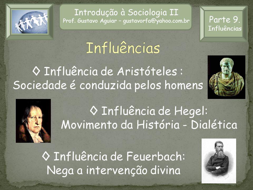 Influências ◊ Influência de Aristóteles :