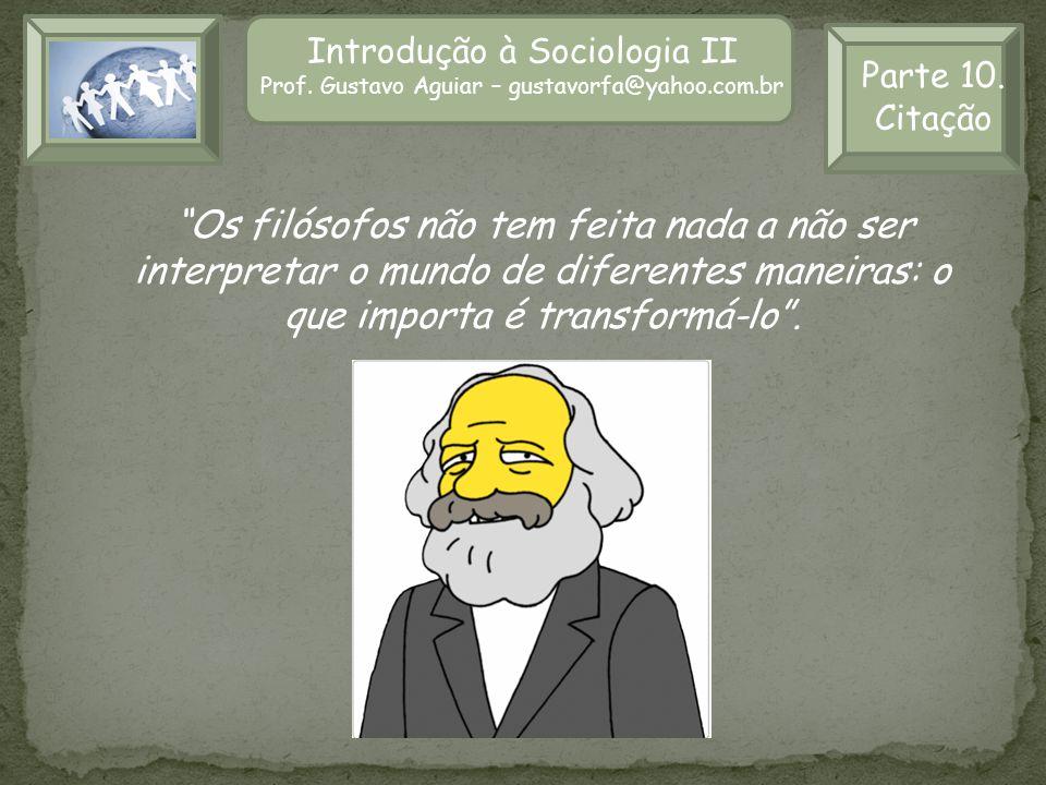 Introdução à Sociologia II
