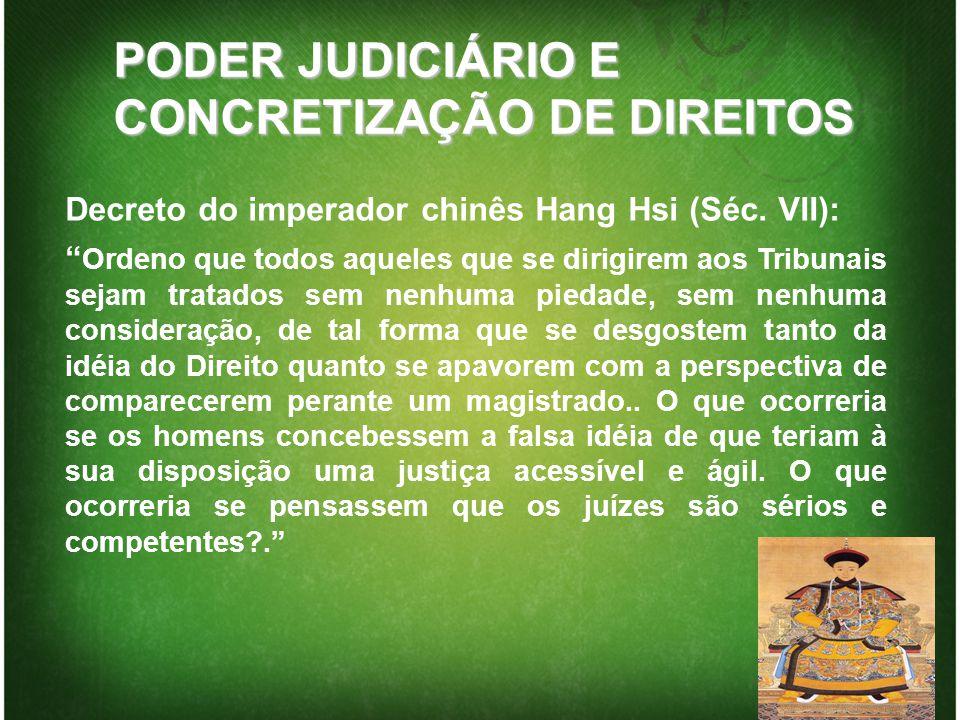 PODER JUDICIÁRIO E CONCRETIZAÇÃO DE DIREITOS