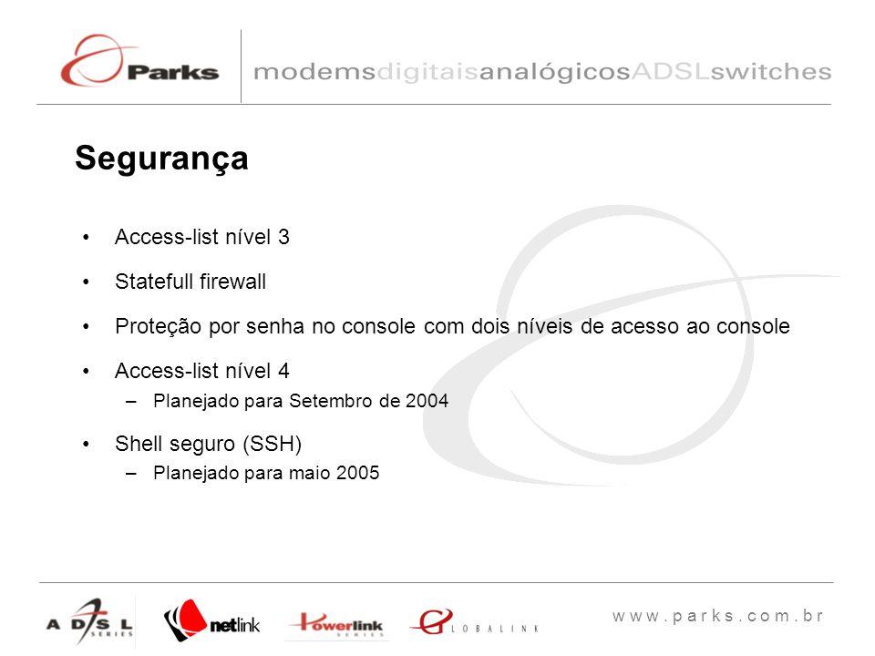 Segurança Access-list nível 3 Statefull firewall