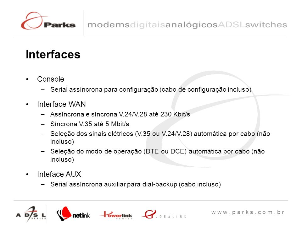 Interfaces Console Interface WAN Inteface AUX