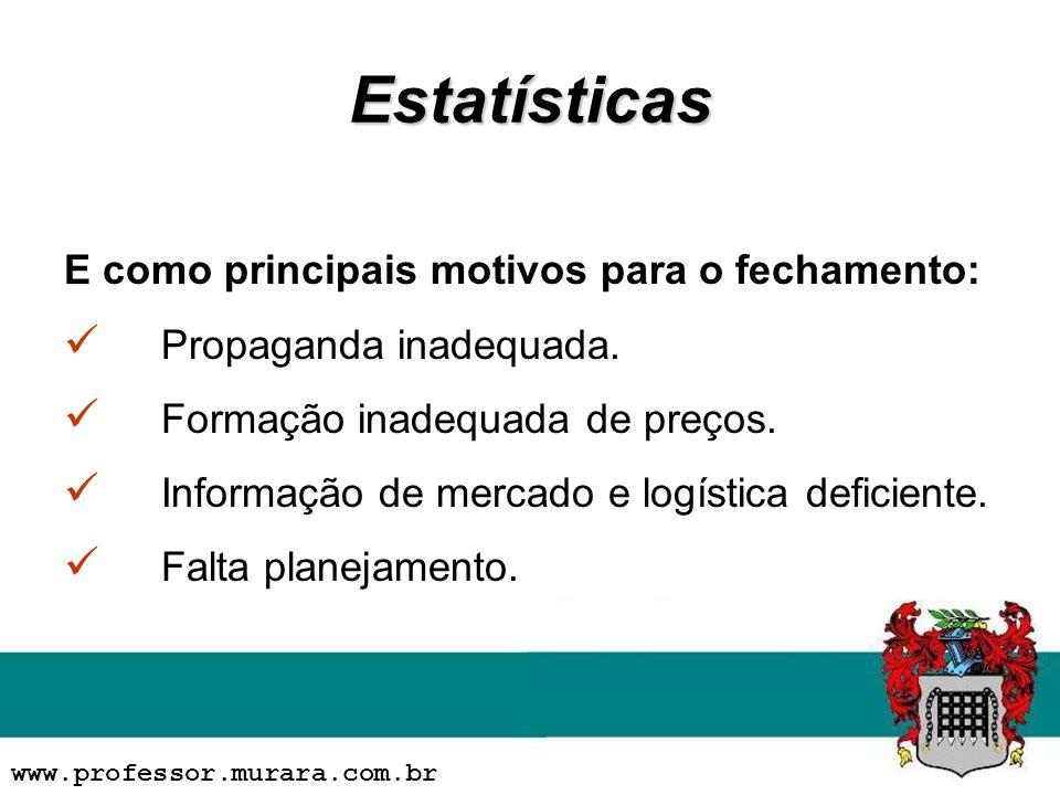 Estatísticas E como principais motivos para o fechamento: