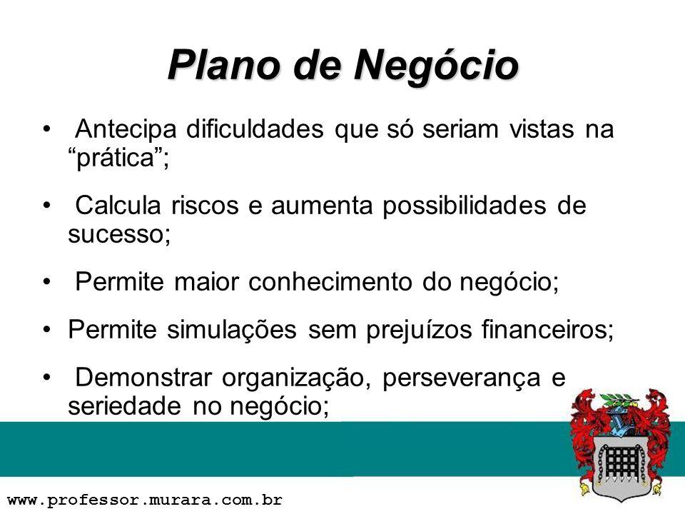 Plano de Negócio Antecipa dificuldades que só seriam vistas na prática ; Calcula riscos e aumenta possibilidades de sucesso;