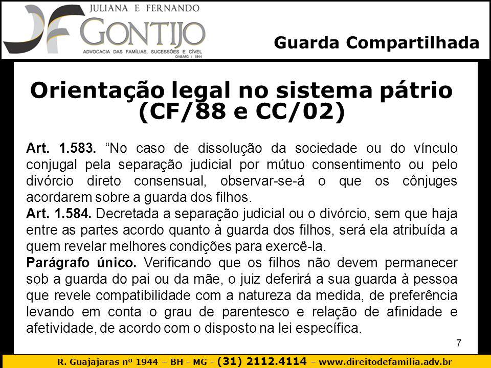 Orientação legal no sistema pátrio (CF/88 e CC/02)