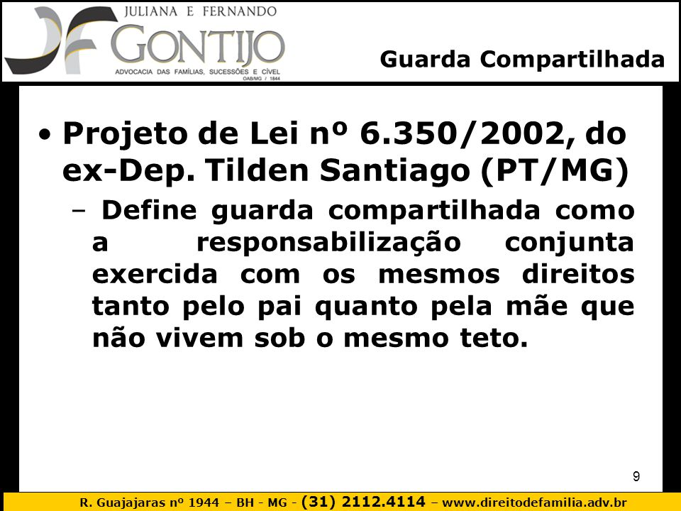 Projeto de Lei nº 6.350/2002, do ex-Dep. Tilden Santiago (PT/MG)