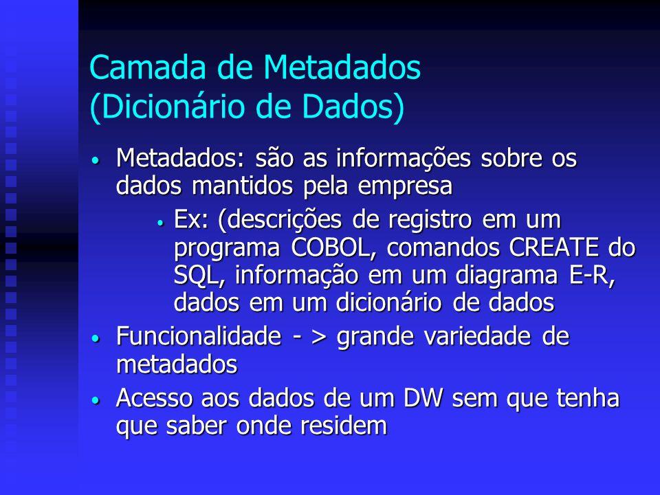 Camada de Metadados (Dicionário de Dados)