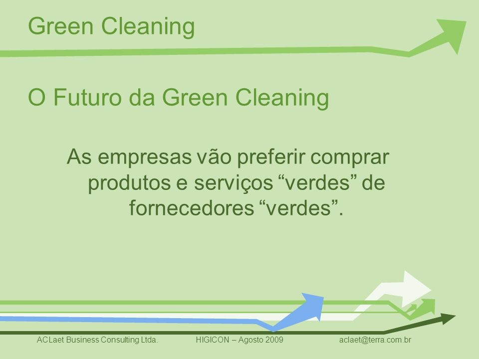 O Futuro da Green Cleaning