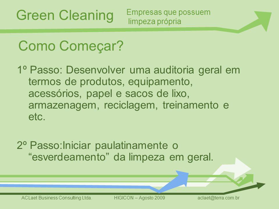 Empresas que possuem limpeza própria. Como Começar