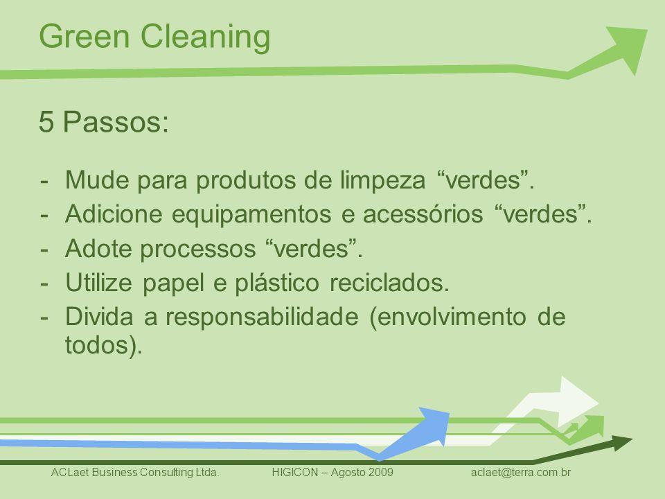 5 Passos: Mude para produtos de limpeza verdes .