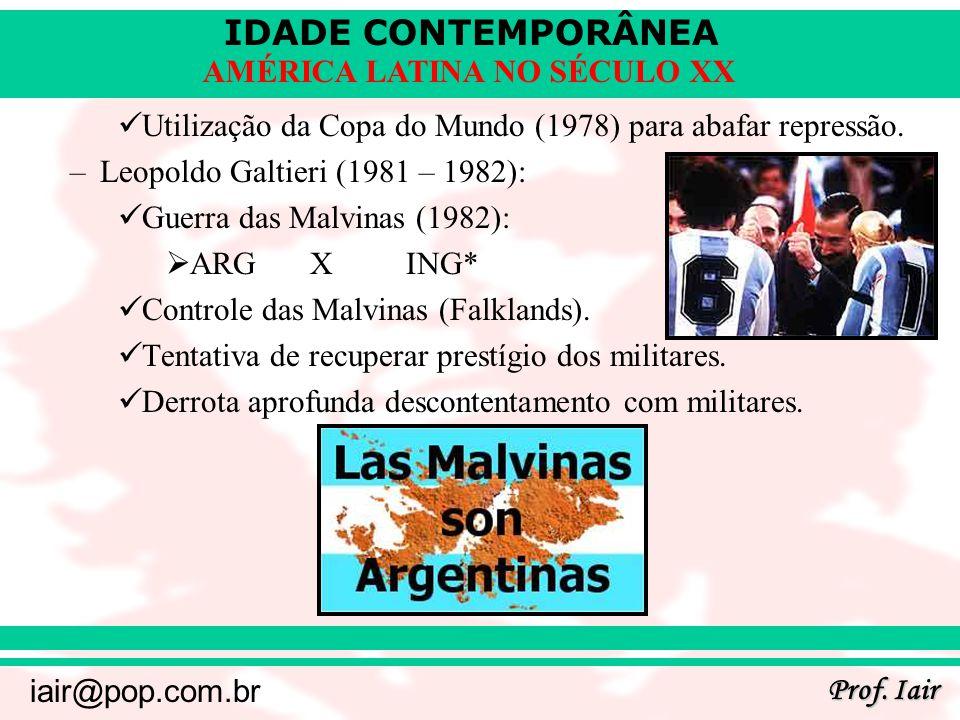 Utilização da Copa do Mundo (1978) para abafar repressão.