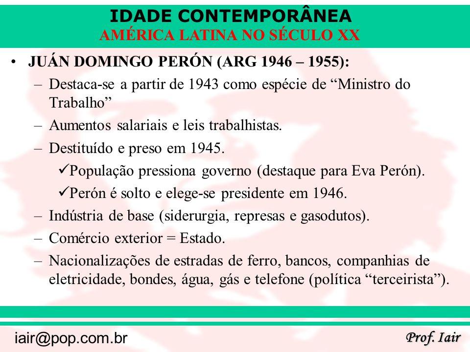 JUÁN DOMINGO PERÓN (ARG 1946 – 1955):