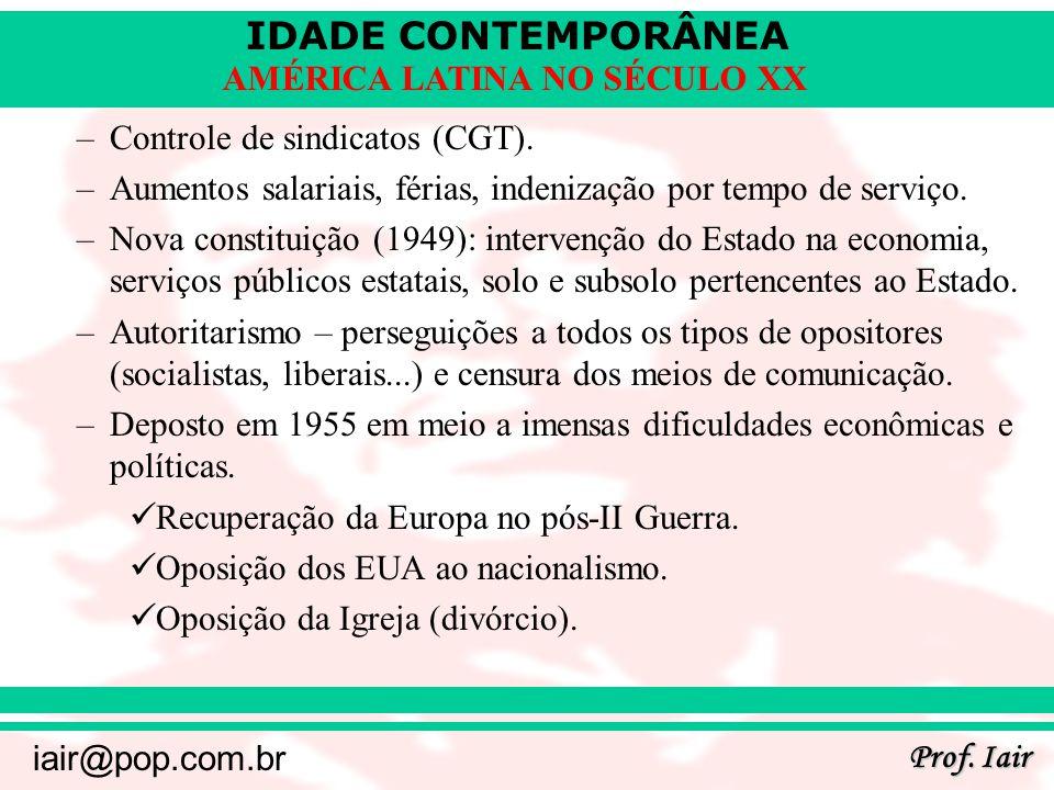 Controle de sindicatos (CGT).