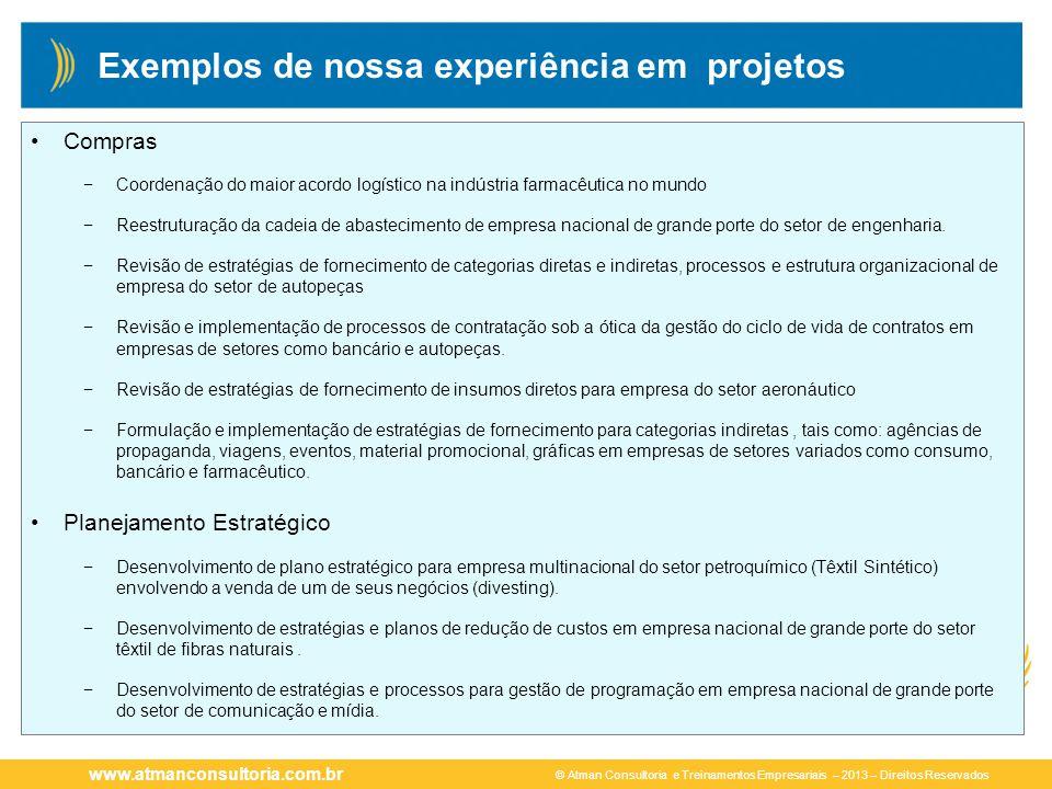 Exemplos de nossa experiência em projetos