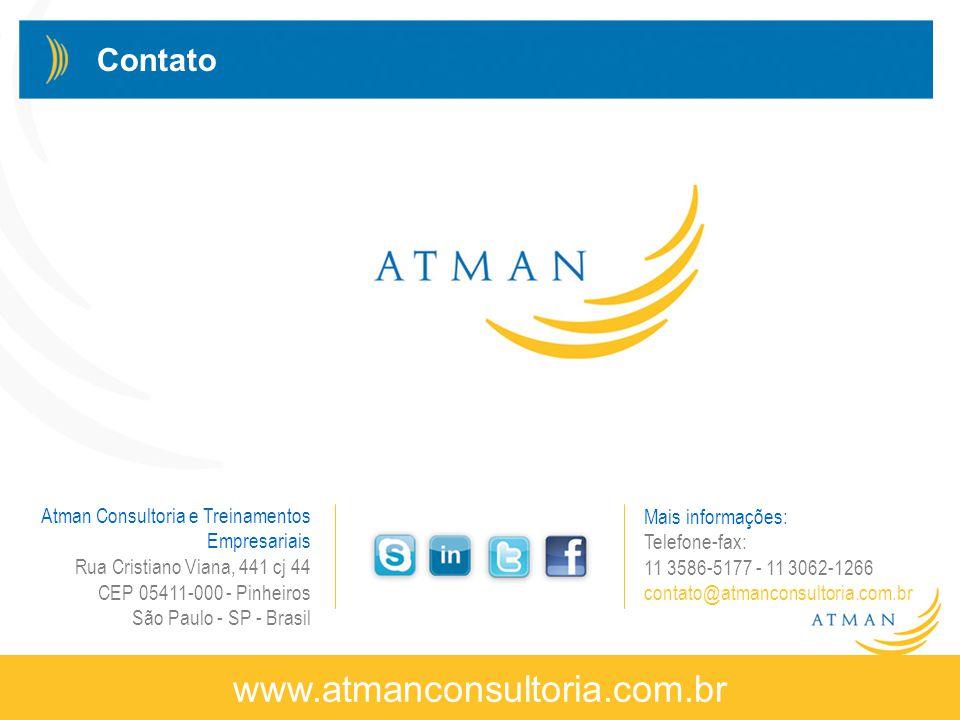 www.atmanconsultoria.com.br Contato Atman Consultoria e Treinamentos