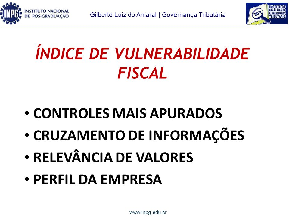 ÍNDICE DE VULNERABILIDADE FISCAL