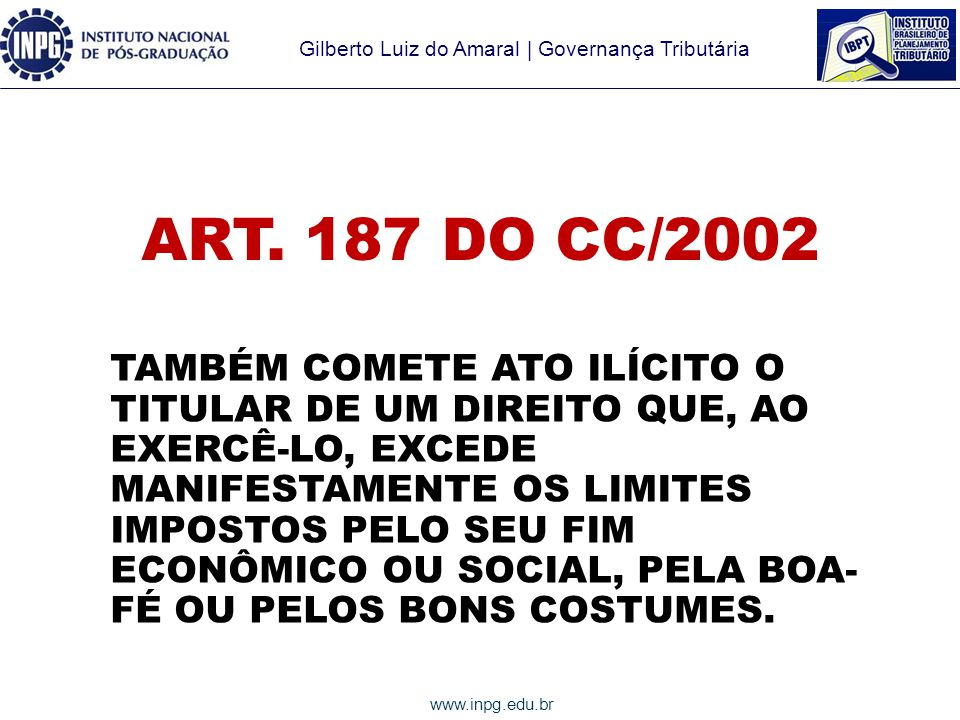 ART. 187 DO CC/2002