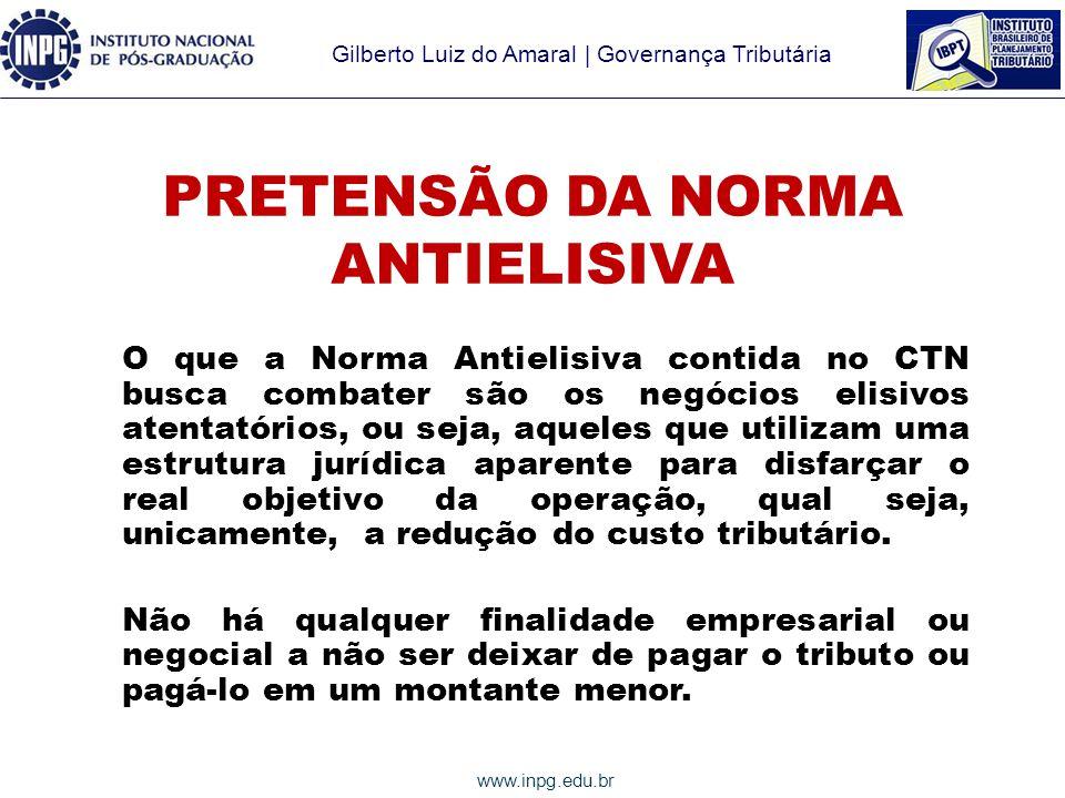 PRETENSÃO DA NORMA ANTIELISIVA