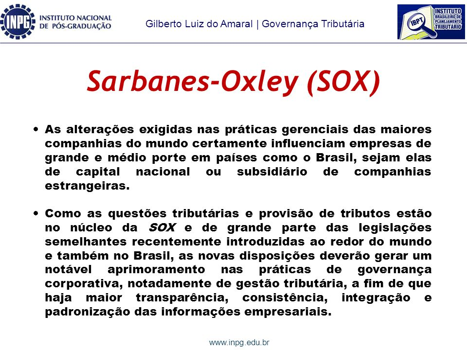 Sarbanes-Oxley (SOX)
