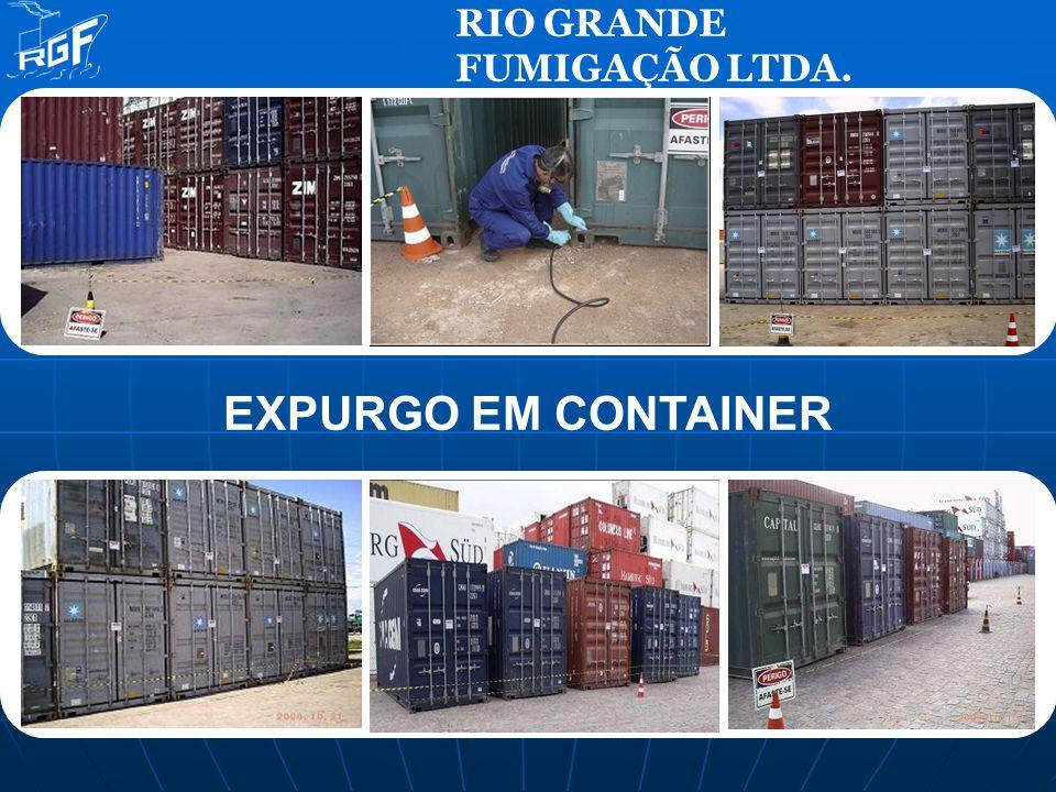 RIO GRANDE FUMIGAÇÃO LTDA. EXPURGO EM CONTAINER