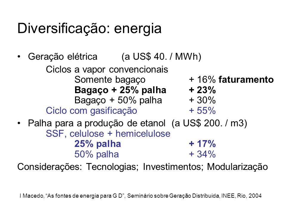 Diversificação: energia