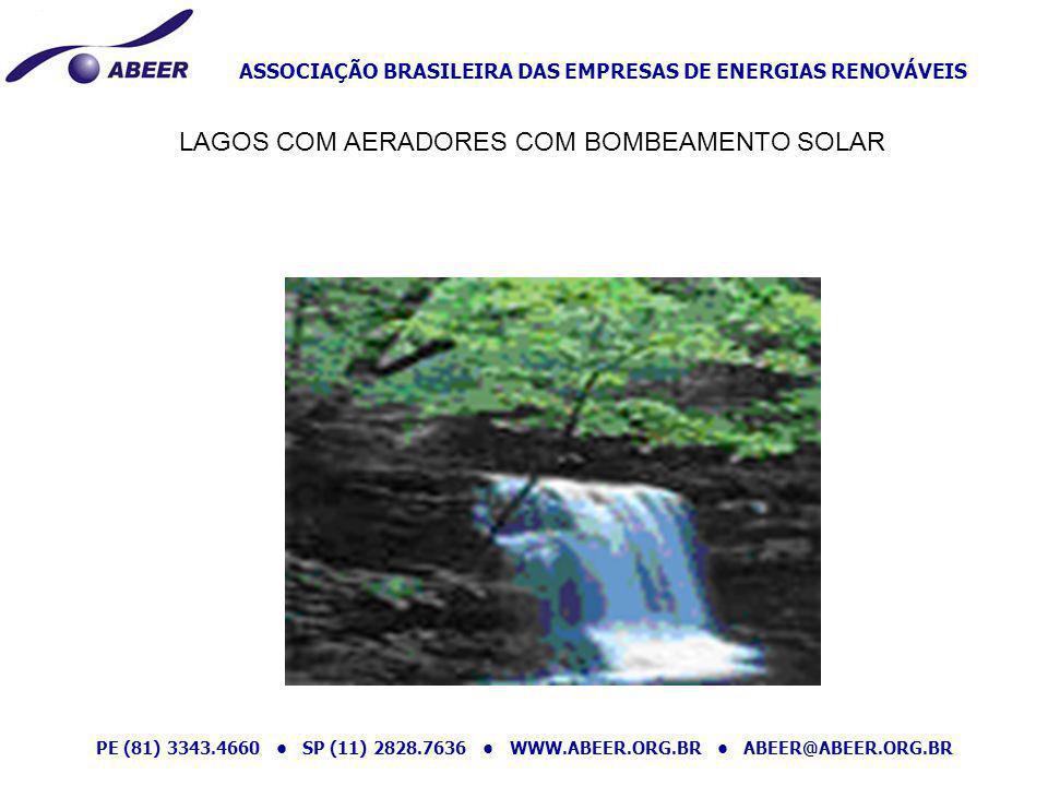 LAGOS COM AERADORES COM BOMBEAMENTO SOLAR
