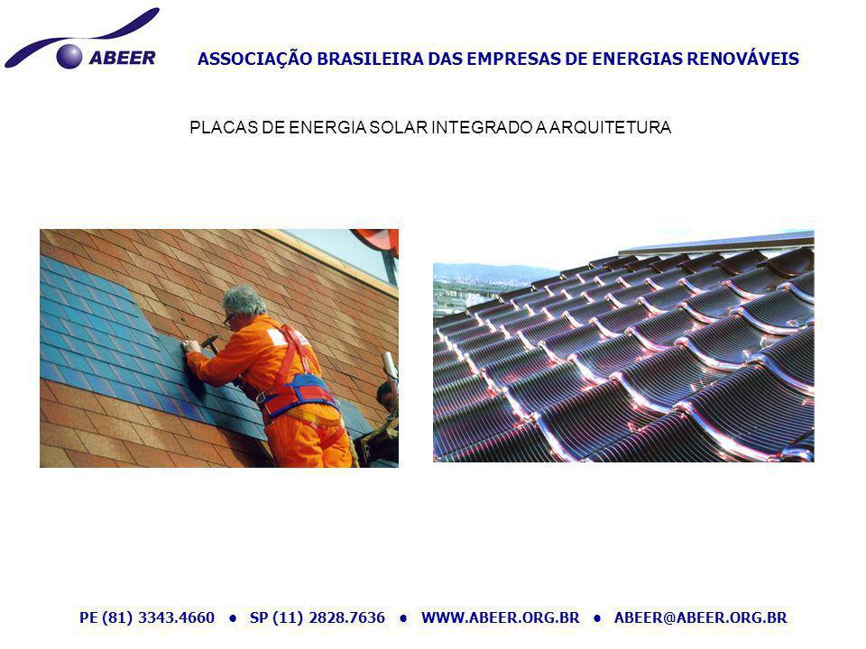PLACAS DE ENERGIA SOLAR INTEGRADO A ARQUITETURA