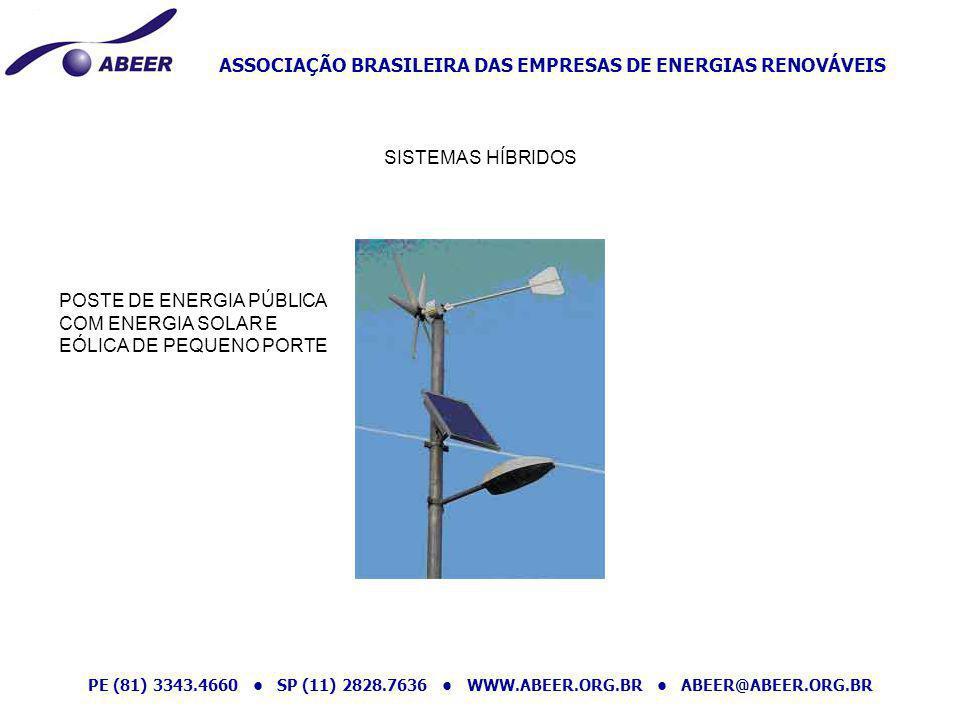 SISTEMAS HÍBRIDOS POSTE DE ENERGIA PÚBLICA COM ENERGIA SOLAR E EÓLICA DE PEQUENO PORTE