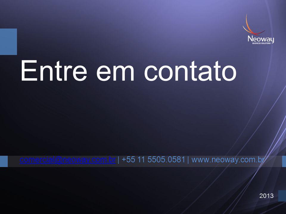 Entre em contato comercial@neoway.com.br | +55 11 5505.0581 | www.neoway.com.br 2013