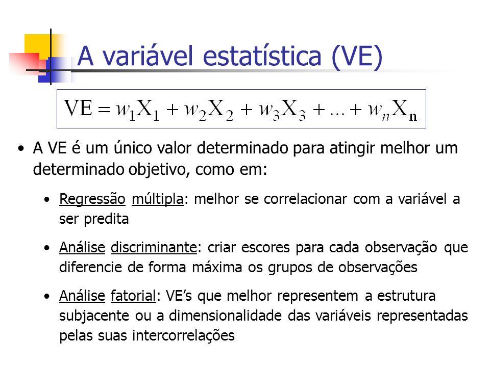 A variável estatística (VE)
