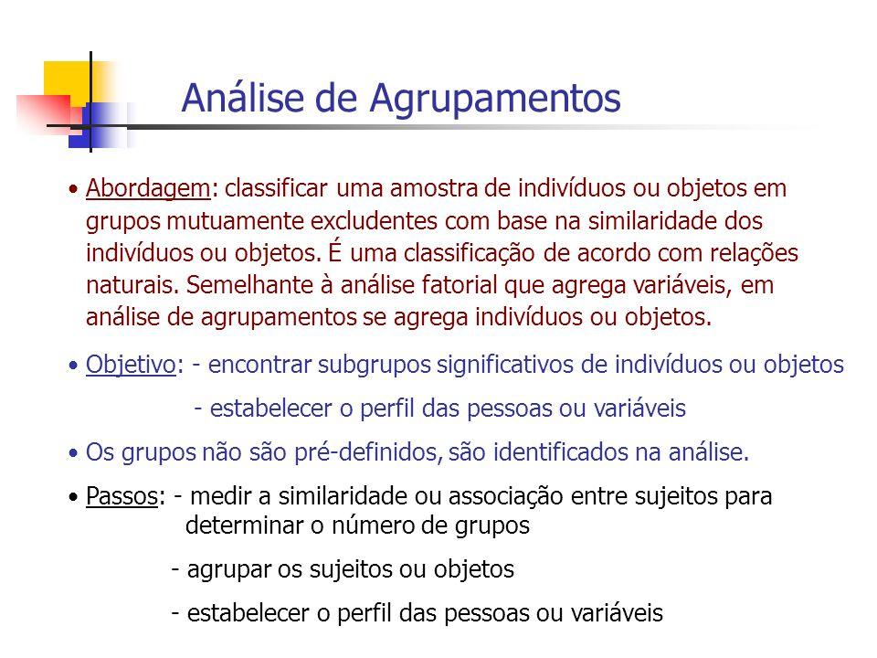 Análise de Agrupamentos