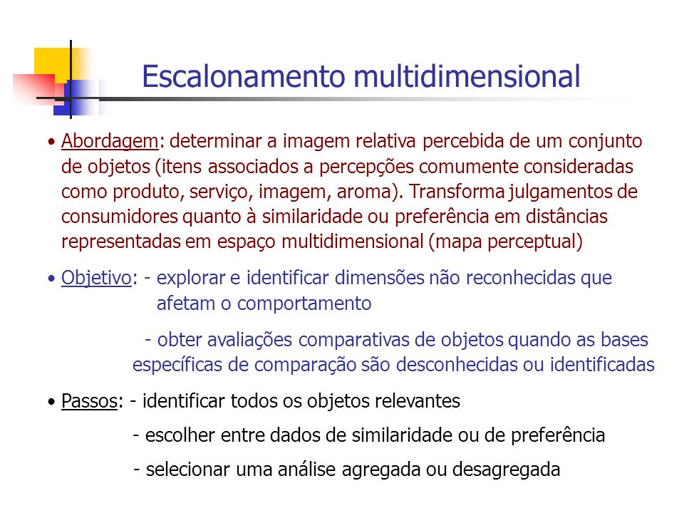 Escalonamento multidimensional