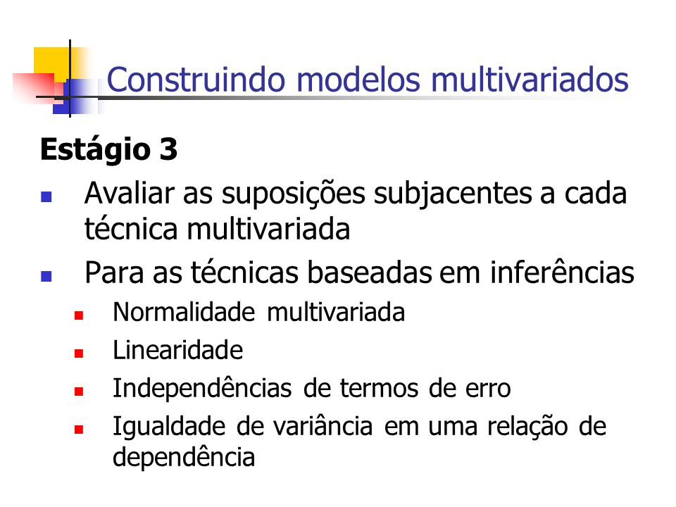 Construindo modelos multivariados
