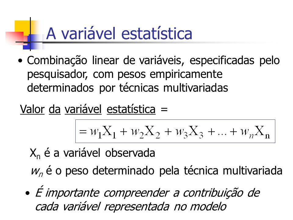 A variável estatística